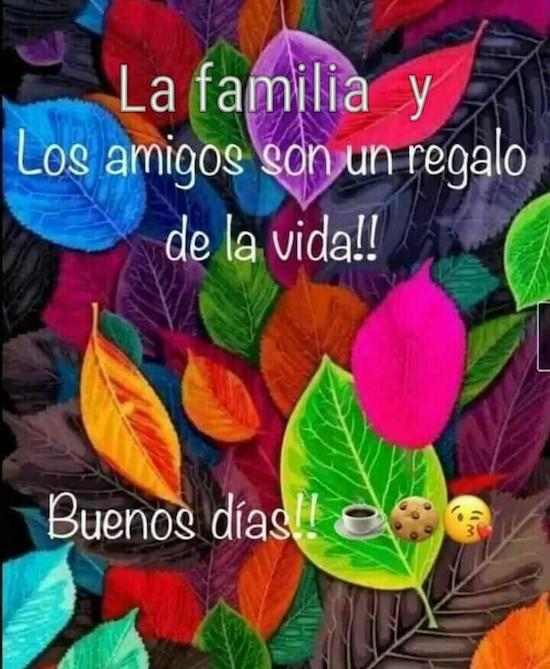 La familia y Los amigos son un regalo de la vida!  Buenos dias!
