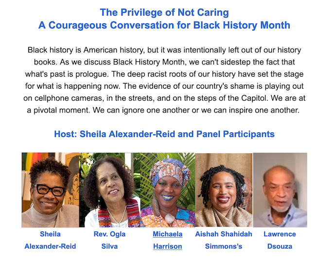 The Privilege of Not Caring a Courageous Conversation for Black History Month.