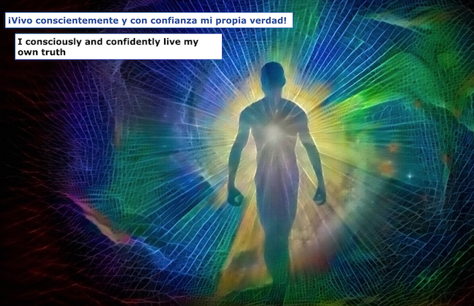 Vivo conscientemente y con confianza mi propia verdad! I consciously and confidently live my own truth!