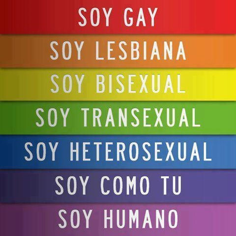 soy gay, soy lesbiana, soy bisexual, soy transexual, soy heterosexual, soy como tu, soy humano