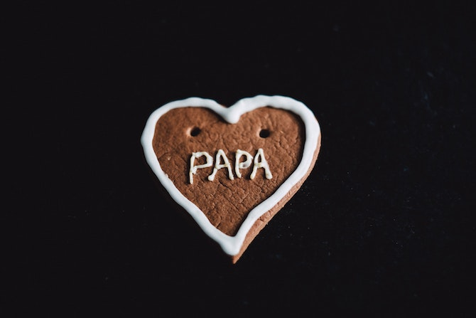 Heart with Papa written on