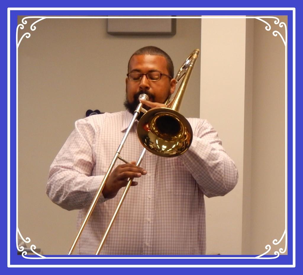 Man playing the trombone