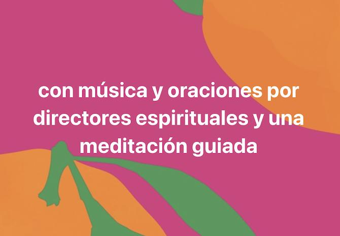 Con musica y oraciones por directores espirituales y una meditacion guiada